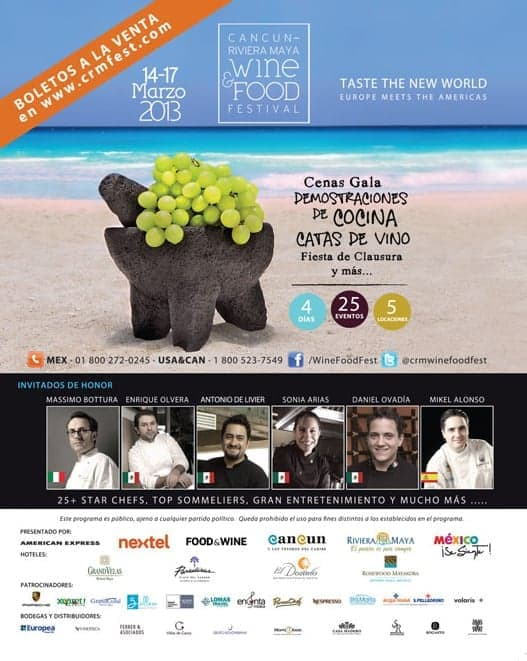 Cancun Riviera Maya Wine & Food Festival 2013