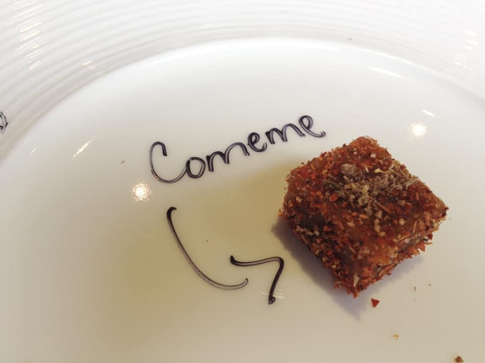 Dulce de Tejocote con Chile Piquín y Chilcuague, Restaurante Paxia