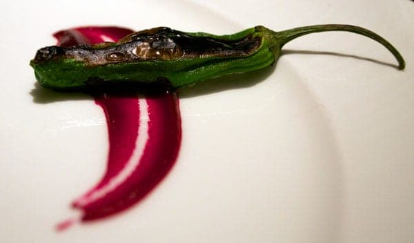 Chiles Toreados, Restaurante Flame, Four Seasons Vail