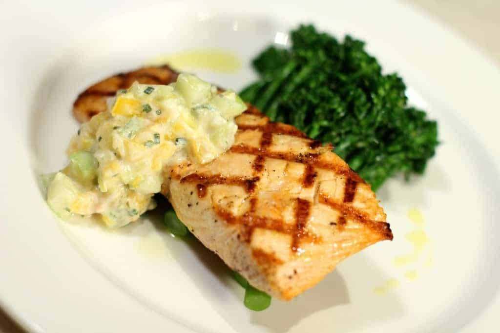 Smart Plate- Bellagio Grilled Salmon