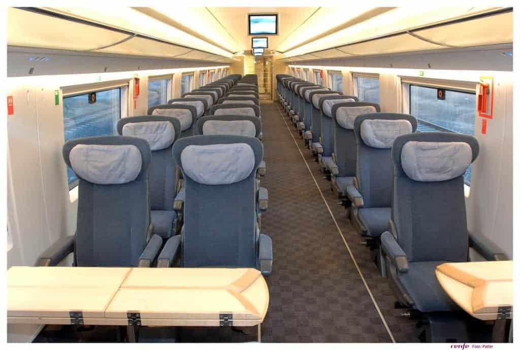 AVE.S-103 Preferente Class Interior.Barcelona.Madrid Train.R0159D-020, Rail Europe