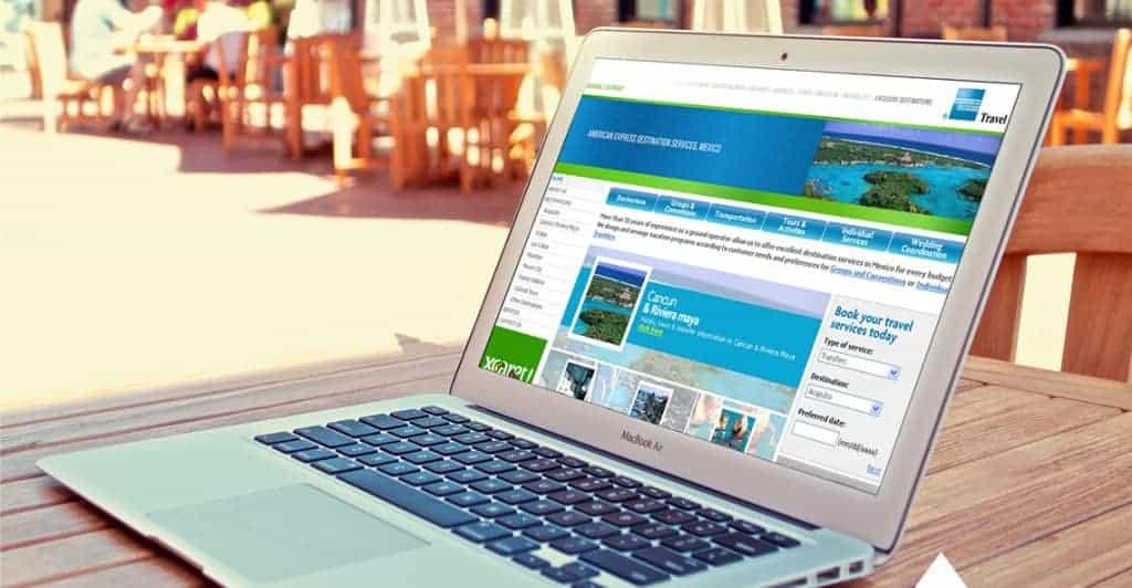 Sitios web de destinos y hoteles