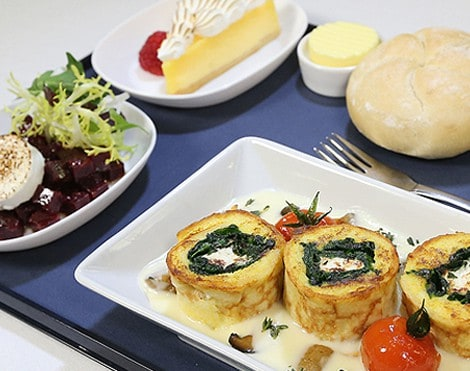 Menú Vegetariano, British Airways