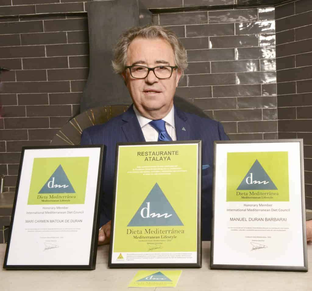 Sommelier Juan Muñoz, Certificación de la fundación de la Dieta Mediterránea Atalaya México