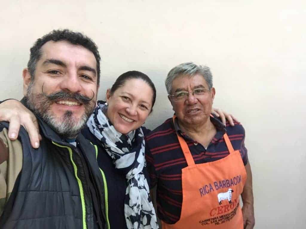 Con Aquiles Chaves y Don Apolinar Cerón