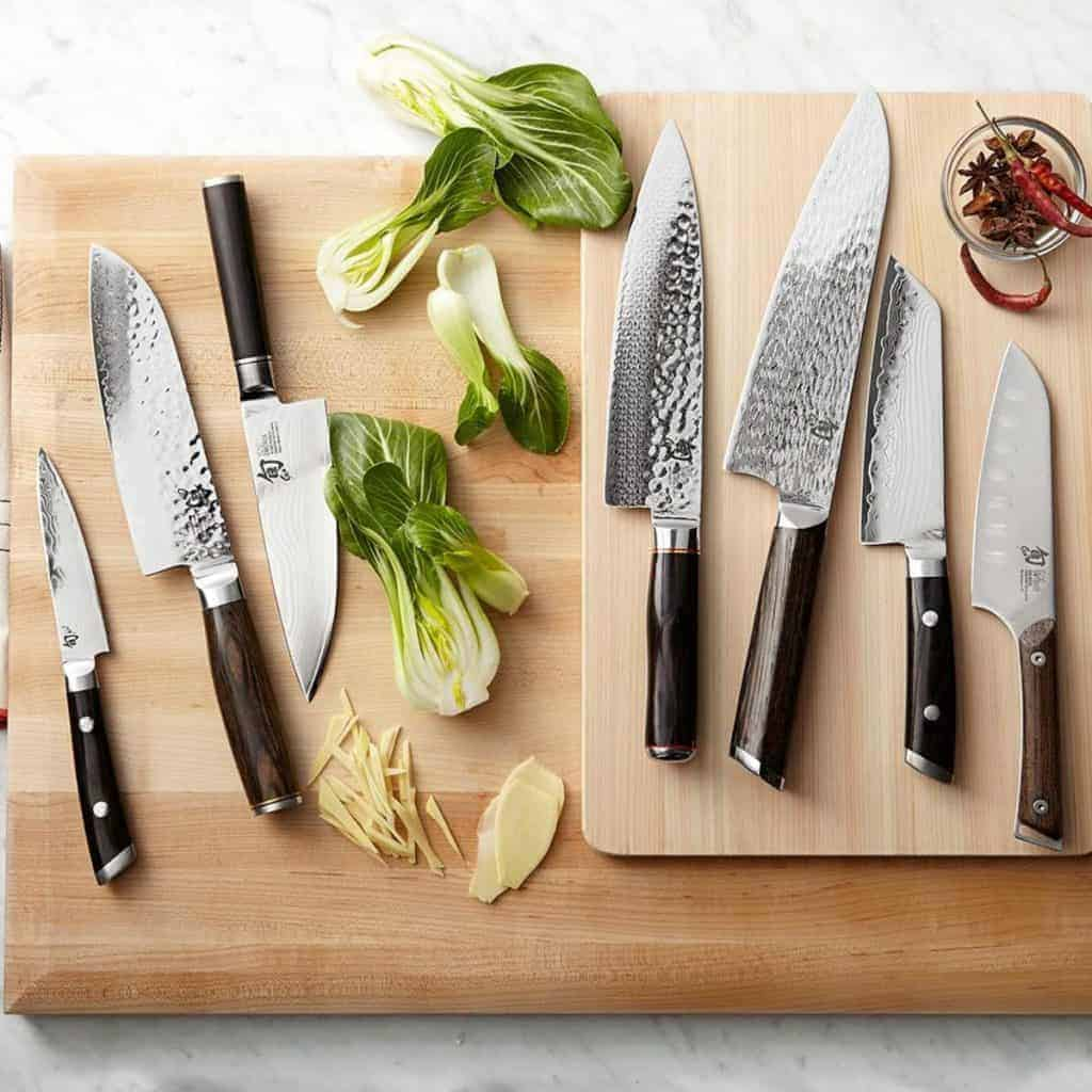 basic kitchen utensils, chopping boards
