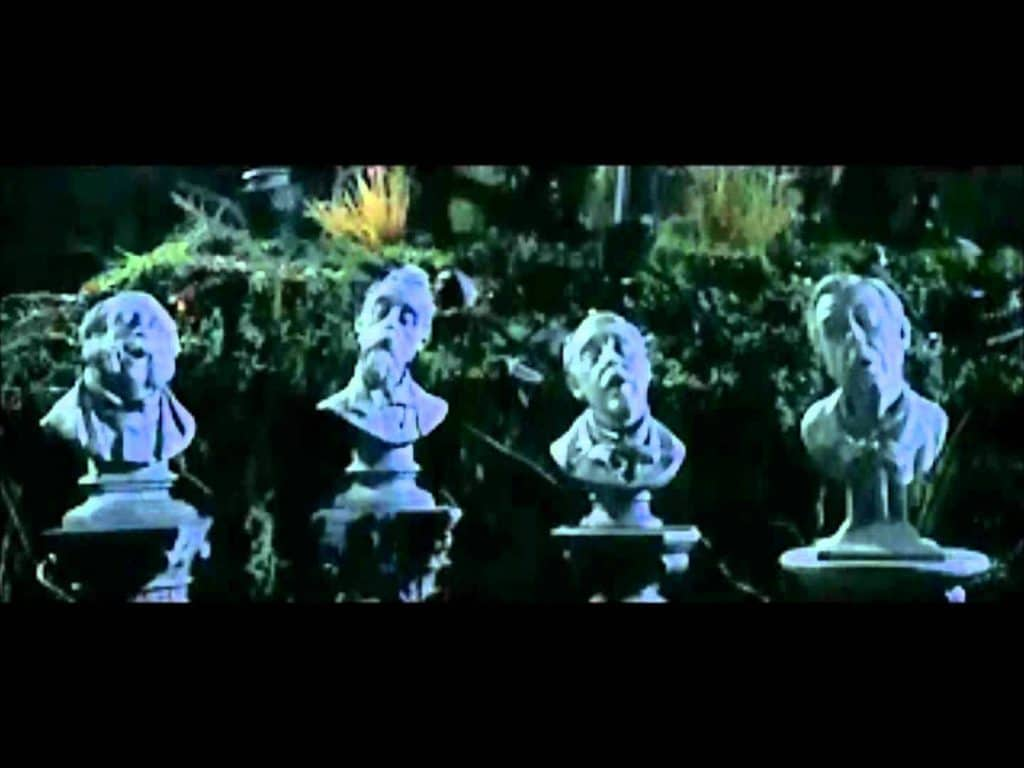 singing busts in the Haunted Mansion