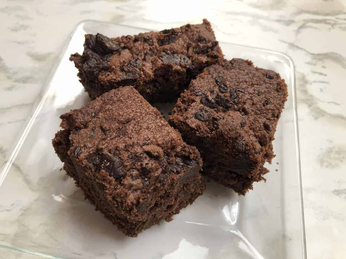 Brownies de chocolate con harina de almendras